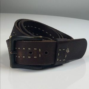 Timberland Brown Leather Belt Size 40 / 100